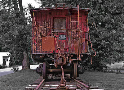 Old Red Train Print by Lori Coleman