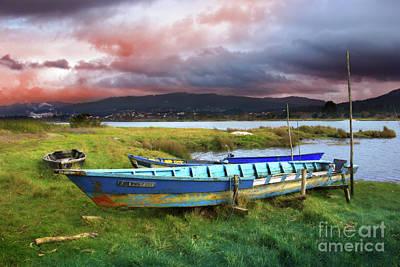 Old Row Boats Print by Carlos Caetano
