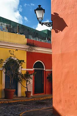 Caribbean Corner Photograph - Old San Juan Street Corner by George Oze