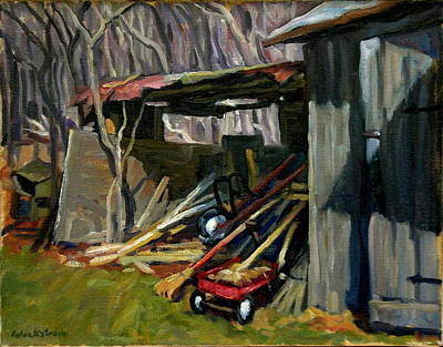 Shed Painting - Old Shed Berkshires by Thor Wickstrom