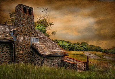 Stone Barn Photograph - Old Stone Countryside by Robin-lee Vieira