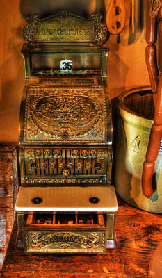 Old Time Cash Register - General Store - Vintage - Nostalgia  Print by Lee Dos Santos