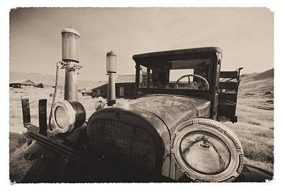 Old Time Picture Of A Truck Print by George Oze