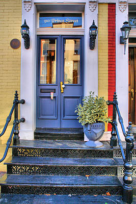 Old Town Doorway Print by Steven Ainsworth