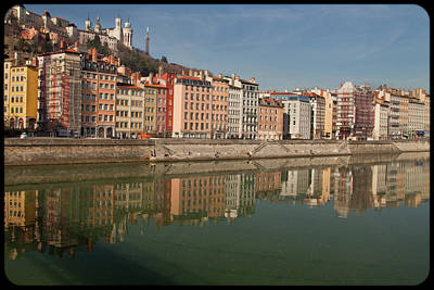 Lyon France Photograph - Old Town Of Lyon by Niall Sargent