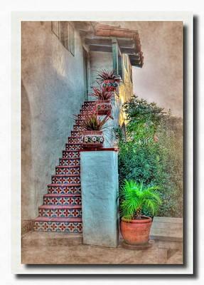 Old Town Stairs Print by Frank Garciarubio