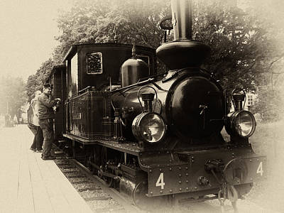 Stylized Photograph - Old Train Sweden by Stelios Kleanthous