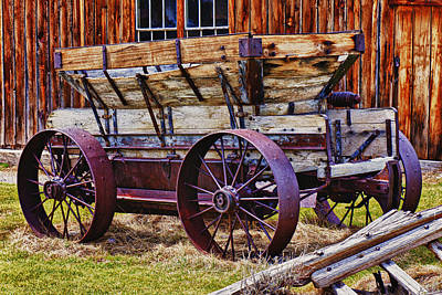 Old Wagon Bodie Ghost Town Print by Garry Gay