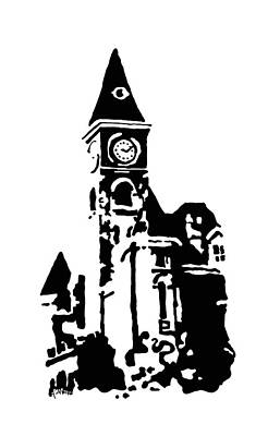 Old Washington County Court House In Fayetteville Ar Print by Amanda  Sanford