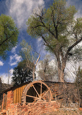 Old West Water Mill 1 Print by Darcy Michaelchuk