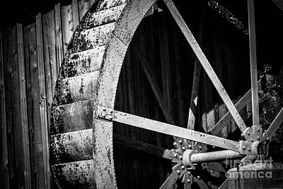 Old West Water Mill 2 Print by Darcy Michaelchuk