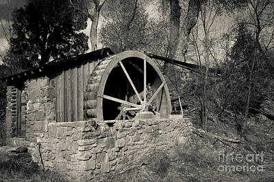 Old West Water Mill 3 Print by Darcy Michaelchuk