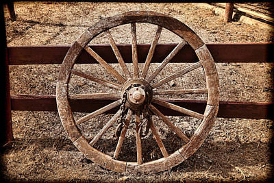 Old West Wheel Print by Kelley King