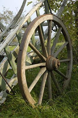 Cartwheel Photograph - Old Wooden Cartwheel - Nostalgia by Matthias Hauser