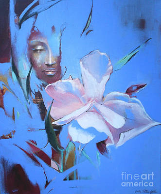 Oleanders Painting - Oleandera by Lin Petershagen