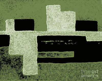 Olive Green Abstract Print by Marsha Heiken