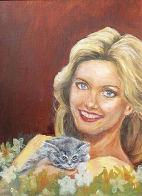 Olivia Painting - Olivia Newton-john by Bryan Bustard