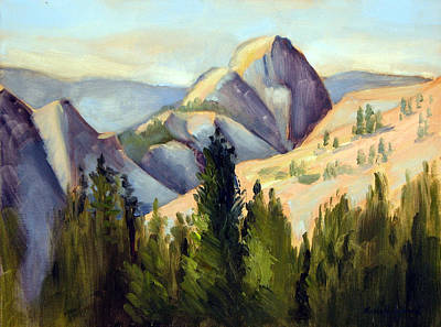 Half Dome Painting - Olmstead Point by Karin  Leonard