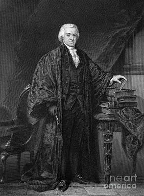 Chief Justice Photograph - Olvier Ellsworth (1745-1807). Chief Justice Of The United States Supreme Court, 1796-1799. Steel Engraving, 1863 by Granger