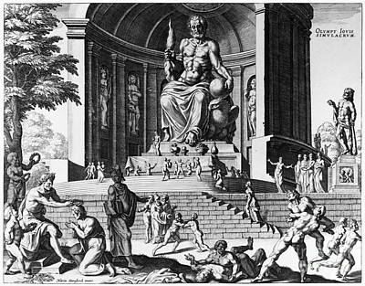 Olympia: Statue Of Zeus Print by Granger