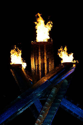 Olympic Flame Print by Ivan SABO