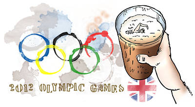 Olympic Rings Print by Mark Armstrong
