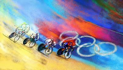 Victoria Mixed Media - Olympics Women Keirin 01 by Miki De Goodaboom