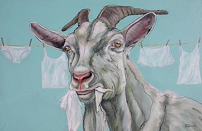 Laundry Painting - Omnivore by Erlinde Ufkes Stephanus