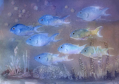 Sea Life Painting - On A Mission by Arline Wagner
