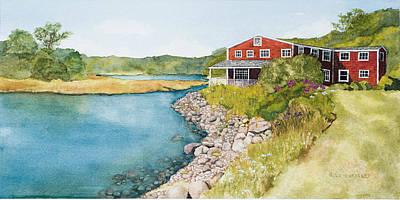 On Grist Mill Pond Print by Gregg Litchfield