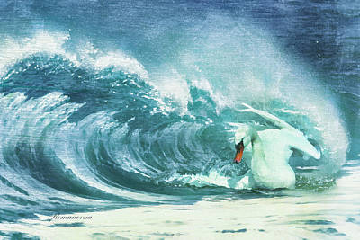 Surfing Art Mixed Media - On My Own Again by Georgiana Romanovna