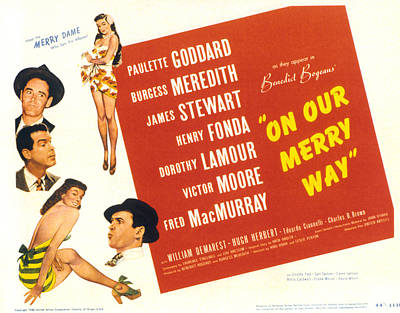 On Our Merry Way, Dorothy Lamour, Henry Print by Everett