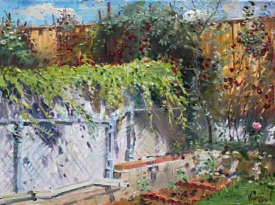 Backyards Painting - On The Backyard Of My Studio by Ylli Haruni