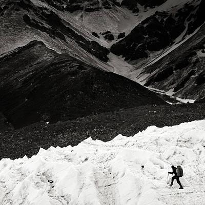 On The Glacier Print by Konstantin Dikovsky