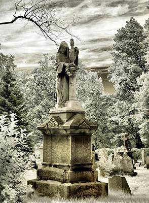 Graveyard Digital Art - On The Other Side by Gothicolors Donna Snyder