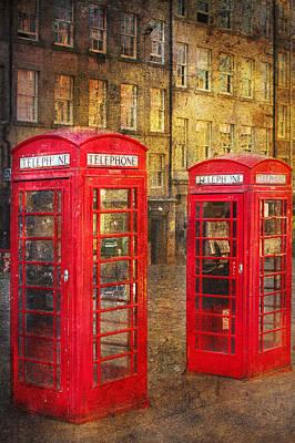 On The Streets Of Edinburgh  Print by Svetlana Sewell