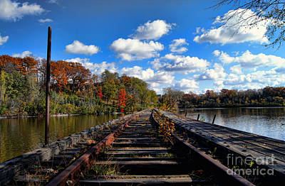 Appleton Photograph - On The Tracks by Craig Ebel