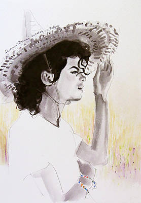 Michael Jackson Art Drawing - One Day In Your Life by Hitomi Osanai