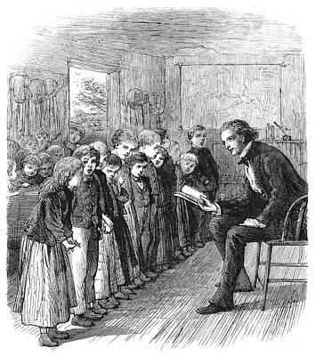 One-room Schoolhouse, 1874 Print by Granger