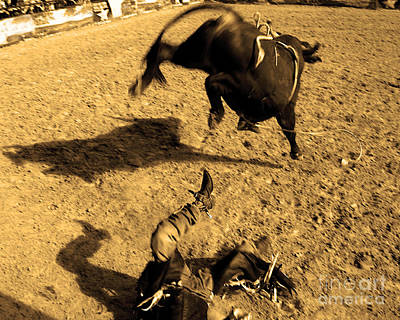 Cowboy Photograph - One Second Ride by Gib Martinez