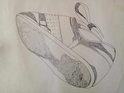 One Tennis Shoe Print by Jona Henshall