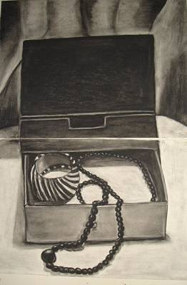 Open Jewelry Box Print by Carmel Joseph