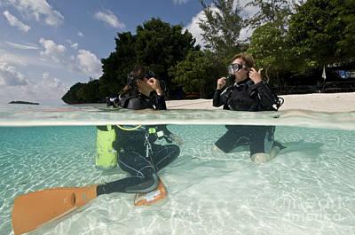 Open Water Student Diver, Mataking Print by Mathieu Meur