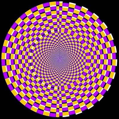 Optical Illusion Moving Cobweb Print by Sumit Mehndiratta