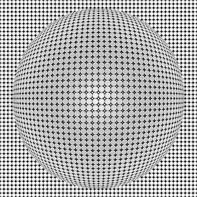 Optical Illusion Plastic Ball Print by Sumit Mehndiratta
