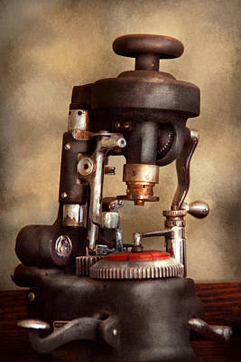 Optometry - Lens Cutting Machine Print by Mike Savad