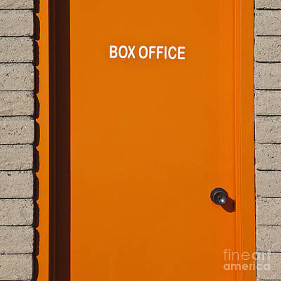 Orange Photograph - Orange Box Office Door by Paul Edmondson