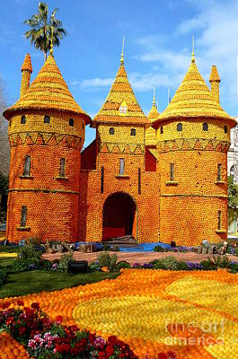 Menton Photograph - Orange Castle by Anna  Duyunova