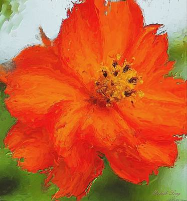 Digital Painting - Orange by Michelle Joseph-Long