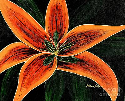 Spring Bulbs Painting - Orange Oriental Lily by Barbara Griffin